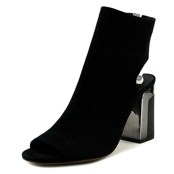 Vince Fenmore Women Open-Toe Suede Black Heels