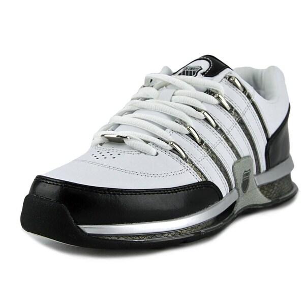 K-Swiss Appian Men Round Toe Leather White Tennis Shoe