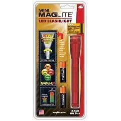 Maglite 2 AA Red LED w/ Nylon Sheath