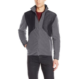 Calvin Klein CK Quilted Fleece Jacket XX-Large Battleship Gray Full Zip