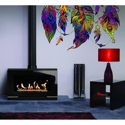 Bohemian Style Feathers Wall Decal, Bohemian Style Feathers Wall sticker, Bohemian Style Feathers wall decor