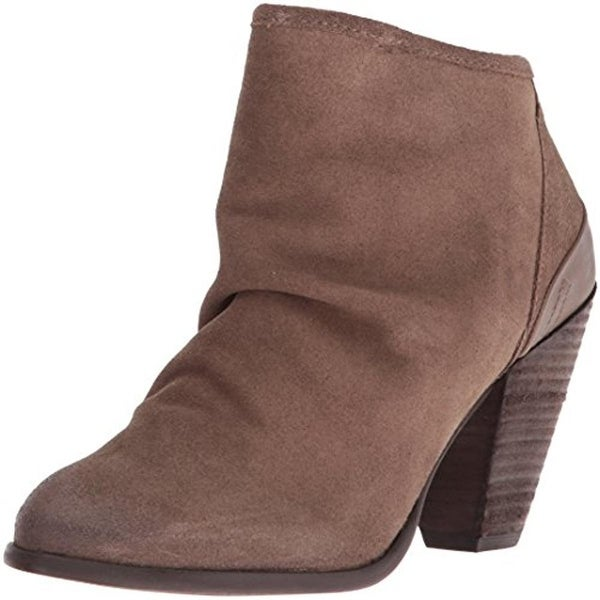 Naughty Monkey Womens Sereena Booties Suede Slouchy