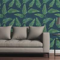"Circle Art Group Removable Wallpaper Tile - Lazy Palms - 24"" x 48"""