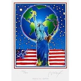 Peace on Earth, Ltd Ed Lithograph, Peter Max