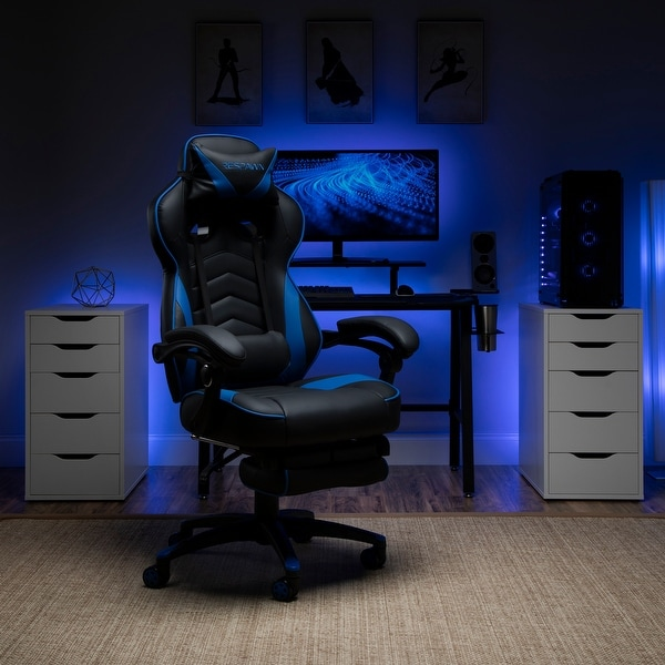 Respawn 110 Racing Style Reclining Gaming Chair with Footrest. Opens flyout.