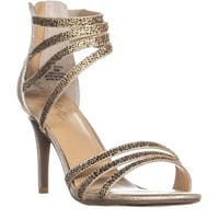 TS35 Karlee Strappy Zip-Up Sandals , Gold - 8 us