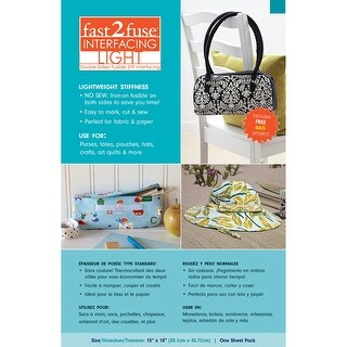 """Fast2fuse Fusible Interfacing Light-15""""X18"""""""