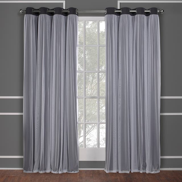 ATI Home Catarina Layered Curtain Panel Pair with grommet top