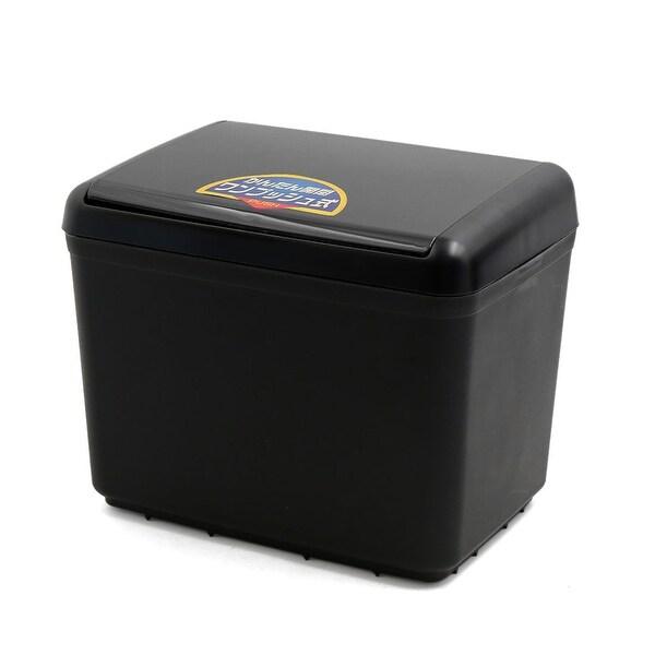Black Plastic Auto Car Trash Rubbish Can Garbage Dustbin Holder Storage Box