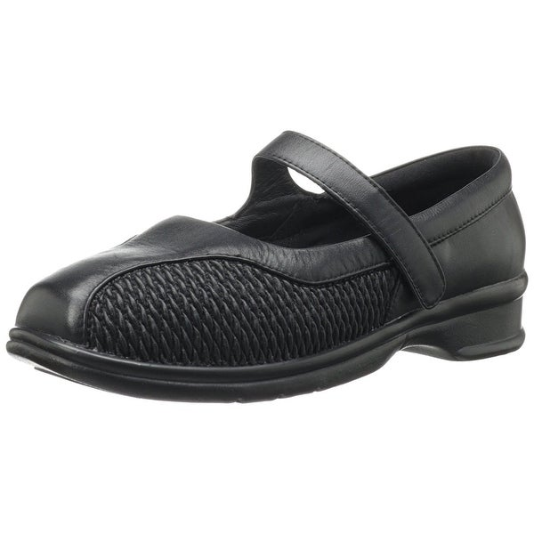 Propét Womens erika Closed Toe Ankle Strap Mary Jane Flats