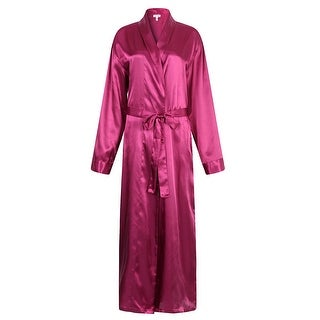 Richie House Men's Satin Robe Bathrobe