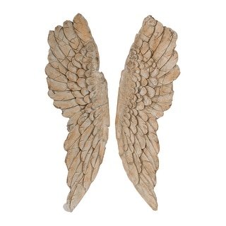Link to Natural Soaring Angel Wings Wall Art (Set of 2) Similar Items in Wall Sculptures