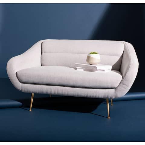 """SAFAVIEH Couture Belladonna Mid-Century Loveseat - 55.1"""" W x 32.3"""" L x 29.1"""" H"""