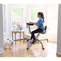Ivation Magnetic Folding Exercise Workout Bike With Desk