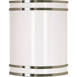 """Nuvo Lighting 60/907 Glamour Single Light 9"""" Wide ADA Approved Wall Sconce with White Plastic Shade"""