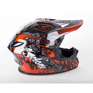 Cyclone ATV MX Motocross Dirt Bike Quad Off-road Helmet Red