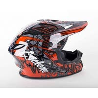 Cyclone ATV MX Motocross Dirt Bike Off-Road Helmet DOT/ECE Approved- Red