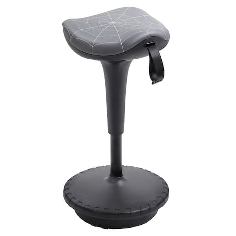 Vinsetto Lift Wobble Stool Standing Desk Chair 360° Swivel, Tilting, with Adjustable Height and Saddle Seat, Grey