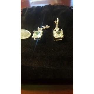 Collette Z Cubic Zirconia Square Drop Earrings