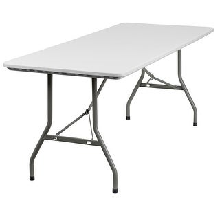 Offex 30''W x 72''L Granite White Plastic Folding Table [OF-RB-3072-GG]