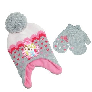 Disney Infant / Toddler's Princess Hat and Mitten Winter Set - Grey - One size