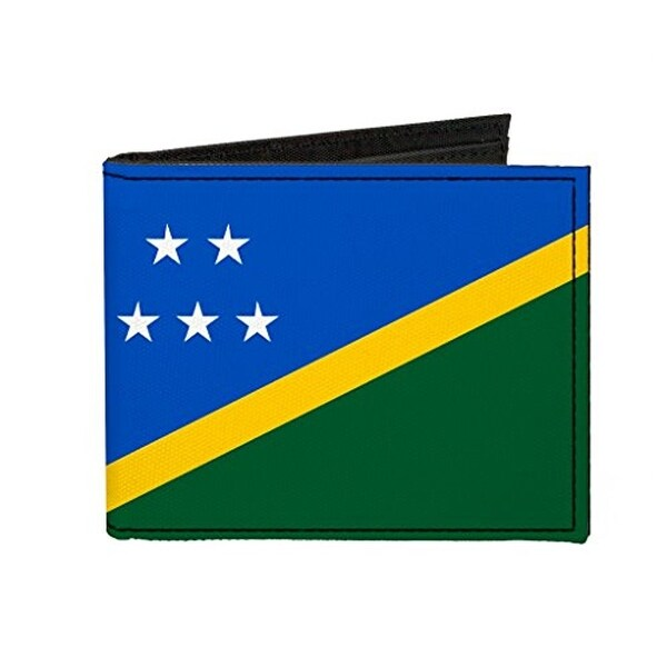 Buckle-Down Canvas Bi-fold Wallet - Solomon Islands Flag Accessory