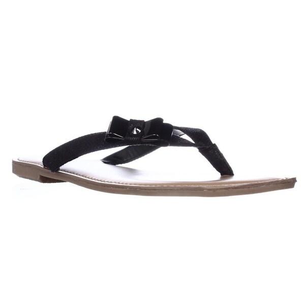 B35 Vance Thong Bow Flip Flops, Black Sparkle