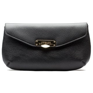 Versace Collection Women Pebbled Leather Clutch Handbag Black - M