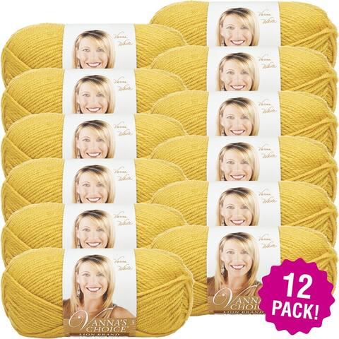 Lion Brand Vanna's Choice Yarn - 12/Pk-Mustard - Yellow