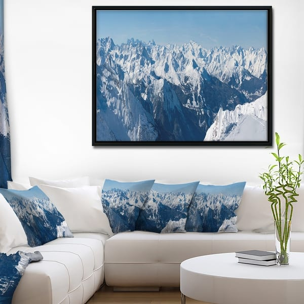 Designart French Alps Panorama Photography Framed Canvas Art Print Overstock 18951707