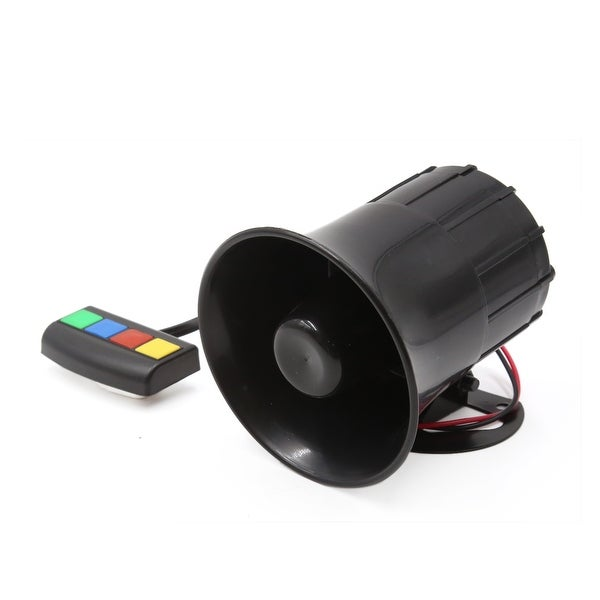 Motorcycle 4 Tone Sounds Loud Security Safety Warning Siren Horn DC 12V