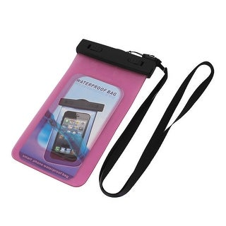 Unique Bargains Waterproof Bag Case Holder Pouch Pink for iPhone 5G w Neck Strap Armband