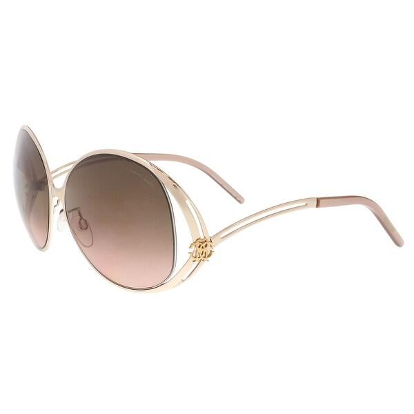 Shop Roberto Cavalli RC894 S D26 Grumium Gold Rose Oval Sunglasses ... cb761f2d6b
