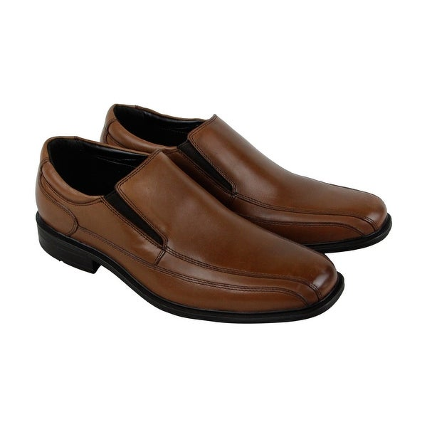 Kenneth Cole New York Slip On Mens Brown Leather Casual Dress Loafers Shoes