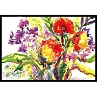 Carolines Treasures 6042JMAT 24 x 36 in. Flower Indoor Or Outdoor Mat