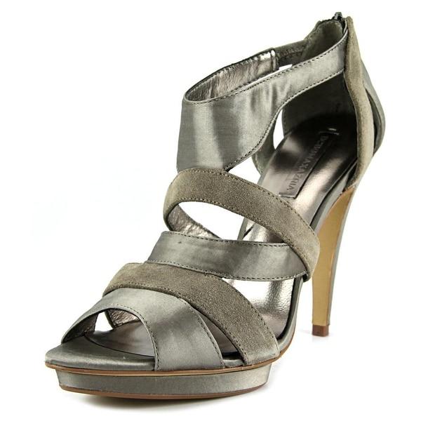 BCBG Max Azria Rosalind Women Open Toe Suede Gray Platform Heel