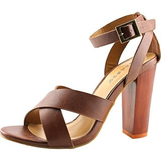 Bamboo Wildfire-15M Women Open Toe Synthetic Tan Sandals