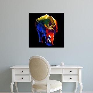 Easy Art Prints Clara Summer's 'The Rhino' Premium Canvas Art