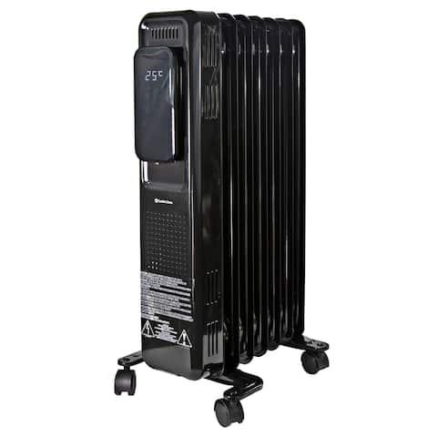 Comfort Zone 1500 Watt Oil-Filled Digital Radiator Heater with Silent Operation, Black