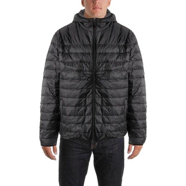 Hawke & Co. Mens Down Hooded Puffer Coat