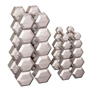 Body-Solid Grey Hex Dumbell Set (Pairs)