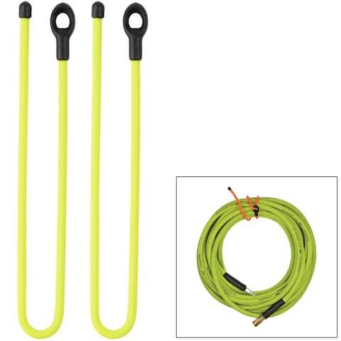 Nite ize gear tie loopable twist tie 24 neon yellow 2pk gll24-33-2r6