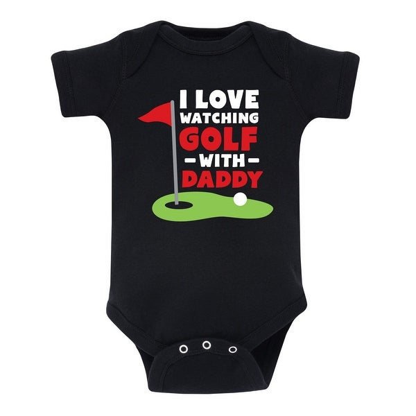 Watching Golf With Daddy - Infant One Piece