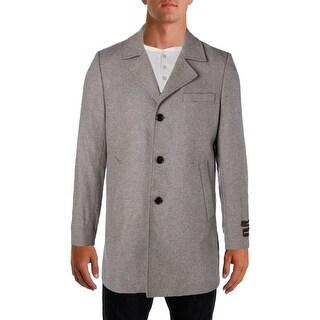 Michael Kors Mens Top Coat Wool Signature
