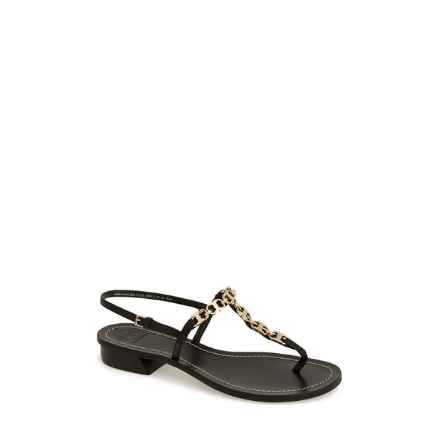 208a19c6a06f77 Shop Tory Burch Gemini Link T-Strap Leather Sandals Shoes - 6 b(m ...