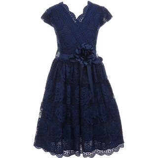 Flower Girl Dress Curly V-Neck Rose Embroidery AllOver Navy JKS 2066 (Option: 4)|https://ak1.ostkcdn.com/images/products/is/images/direct/4877d68b202fc4cc07076fb54bfee903002fe61a/Flower-Girl-Dress-Curly-V-Neck-Rose-Embroidery-AllOver-Navy-JKS-2066.jpg?impolicy=medium