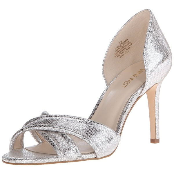 Nine West Womens Fortunata Leather Open Toe D-orsay Pumps