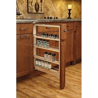 Rev-A-Shelf 432-BFBBSC-3C Filler Pullout Organizer with Ball Bearing Soft-Close Sink and Base Accessories - N/A