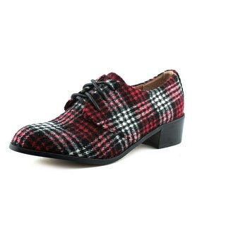 Shellys London Vikova Women Round Toe Canvas Red Oxford