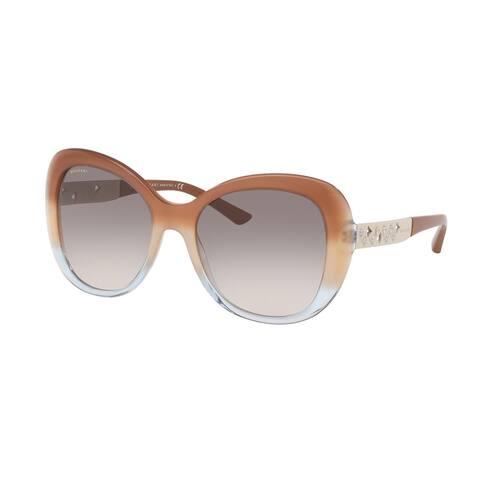 Bvlgari BV8199B 54383B 55 Brown Grad Beige/tr Azure Woman Square Sunglasses